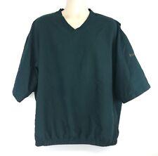 FootJoy Mens XL Green Golf Pullover Short Sleeve Windbreaker Jacket Wind Shirt