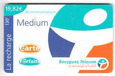 DOM-TOM  TELECARTE / PHONECARD  .. ILE MARTINIQUE 19€82 BOUYGUES CARAIBES 10/01