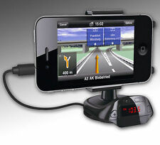 Car Mount Holder Charger Lighter Socket Dual USB For Samsung S4 i9500 iPhone 5 4