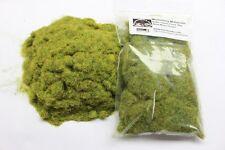 Herbe statique 4 mm en vrac, sac 50g-Vert mousse-Herbe troupeau de première classe P&P