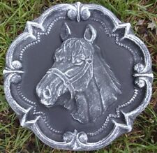 "Horse plaque mold concrete plaster resin casting mould 11"" x 1.25"" thick"