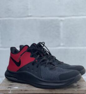 Nike Air Versitile 3 Basketball Shoe Trainer UK Size 11 Red & Black High Top