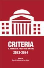 Criteria: A Journal of First-Year Writing 2013-2014