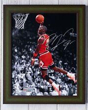 Chicago Bulls MJ Air Michael Jordan Autographed Upper Deck Photo + Framed & COA