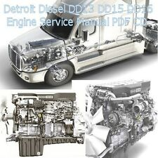 Detroit Diesel DD13 DD15 DD16 Truck Engine Factory Service Manual Workshop CD