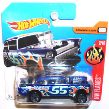 Free safe from 6) Hot Wheels Rod blau '55 Chevy Bel Air Gasser Muscle Car (H230