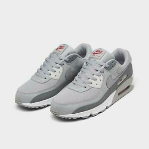AUTHENTIC NIKE AIR MAX 90 Light Smoke Grey Reflect Silver Men Gym Shoes size