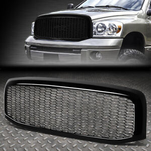 FOR 06-09 RAM 1500 2500 3500 GLOSSY BLACK HONEYCOMB MESH FRONT BUMPER GRILLE