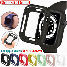 Silicone Bumper Case Protective Frame for Apple Watch Series 6 5 4 3 2 iWatch SE