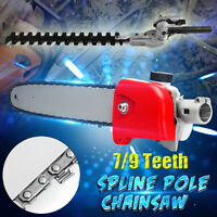 26mm 7/9Teeth Hedge Trimmer Head/Pole Chainsaw Brush Cutter Replacement Parts