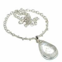 "Golden Rutile Ethnic Gemstone Handmade Gift Jewelry Necklace 18"" JH"