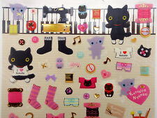 Kutusita Nyanko San-X stickers! Kawaii Japanese cat, sewing clothing fashion