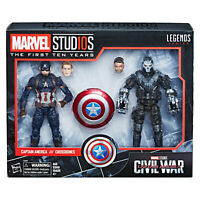 Marvel Legends Captain America and Crossbones 6 Inch Action FIgures Civil War