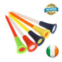 Golf Tees Long Durable Rubber Cushion Top Plastic Multi Color 8.3CM - 50 Pcs