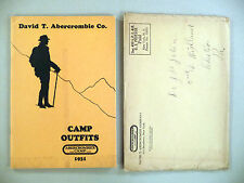 Abercrombie CATALOG - 1931 ~~ w/Orig. Mailing Envelope ~ camping, outdoors