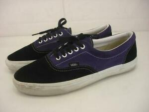 Men's 13 Vans Vault Black Purple Suede Leather Shoes Sneakers T375 Off The Wall