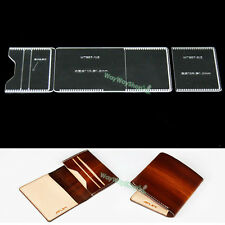 Acrylic card Case Leather 857 templates unisex Craft MODEL TO make Purse wallets