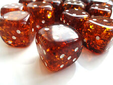 Handmade Baltic amber one dice Transparent. Game dice - best  souvenir. 20mm