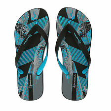IPANEMA Blue /Black Patterned Flip Flops size 11
