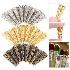 100X Filigree Bead Caps Cones Nail Spacers For Jewellery Jewelry Finding CraftTH