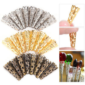 100x Filigree Bead Caps Cones Nail Spacers For Jewellery Jewelry Finding Craf`hw