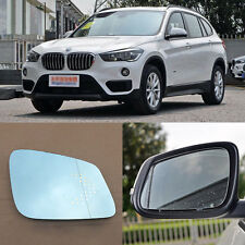 Rearview Mirror Blue Glasses LED Turn Signal with Power Heating For BMW X1