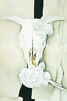Cow's Skull With Calico Roses-O'Keeffe  - CANVAS OR PRINT WALL ART