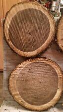 """LOT OF 2 Fresh Black Walnut Slabs Slice Tree Trunk 12"""" x 1"""" Rustic Wood"""