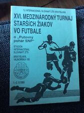 Inter Bratislava 1989 Youth Tournament Programme