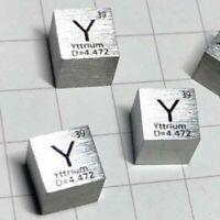 10mm 99.9% Hochreinheit Yttrium Metall Cube Geschnitzte Element Periodensystem