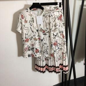 Luxury Women Suits 2021 Tops+Skirt 2/pcs Fashion Women Wholesale Female Sets New