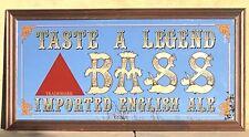 """Vtg Bass Imported English Ale Pub Bar Mirror """"Taste A Legend"""" X Large 66"""" X 34"""""""
