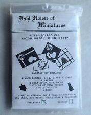 VINTAGE DAHL HOUSE OF MINIATURES DOLLHOUSE MINIATURE CHRISTMAS GIFTS KIT, NEW!