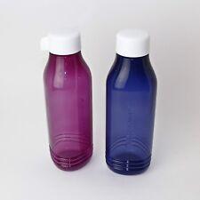 TUPPERWARE EcoEasy Trinkflasche Schraubverschluß750ml dreieckig LILA/DUNKELBLAU