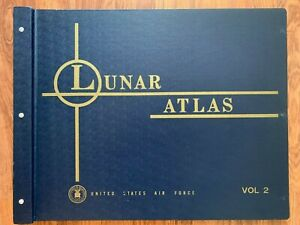 RARE Antique Lunar Atlas, 1st Edition, 1961 Orthographic Atlas of the Moon, USAF