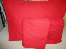 GRAMMERCY STUDIO RED (3PC) TWIN FLAT, FITTED SHEET & STANDARD PILLOWCASE