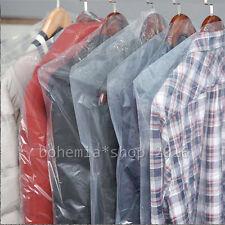 10x Mantelschutz Kleiderschutzhülle Kleiderfolie Kleidersack transparent