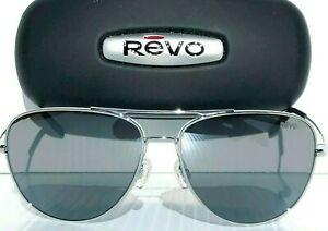 NEW* REVO Windspeed CHROME 61mm AVIATOR POLARIZED Gray lens Sunglass 3087 03 GY