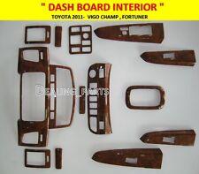 DASH BOARD INTERIOR WOOD TRIM FOR TOYOTA VIGO CHAMP MK8  2011- 2015