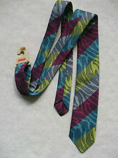 MOD REVIVAL + SQUAD + MULTI STRIPED SKINNY SLIM TIE VINTAGE UNUSED NEW 70S 80S