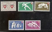 Zwitserland  545/549  Ongebruikt.
