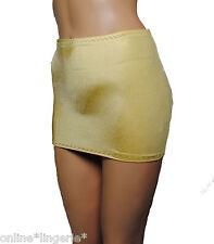 Mini Skirt GOLD Lycra Tube MICRO Booty Bodycon 8-10 PARTY Club Womens Dancer S61