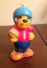 Super Cute Vintage dog with Football & Helmet wax candle beige mutt puppy