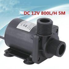 Aquarium Submersible Fountain Pond Brushless Water Pump DC 12v/24v 800l/h 5m