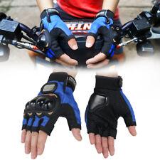 Mens Rock Biker Half Finger Gloves Motorcycle Cycling Driving Fingerless Mitten