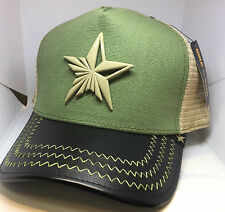 New Gold Star Green and Beige Trucker Hat- One Size $55