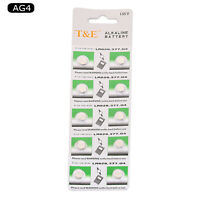 10pcs 1.55V SR626SW AG4 377 Button Coin Cell Battery For Watch Camera