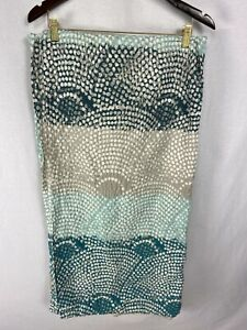 Threshold 100% Cotton Dot Scallop Shower Curtain Turquoise, White & Gray NWOT