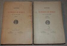 AMBROISE LEDRU - Histoire de la Maison de MAILLY - 2 volumes 1893  PICARDIE