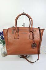 """MICHAEL KORS """"Sophie"""" Crossbody Shoulder Grab Bag Large Tan Leather ~RRP $398 GC"""